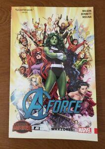 A-FORCE Vol. 0 Warzones! Marvel Comics TPB GN SC OOP Wilson, Bennett SECRET WARS