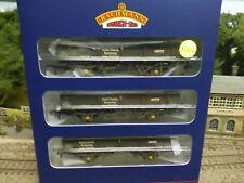 Bachmann 38-105 Triple Pack PNA 5 Rib Wagons Railtrack weathered