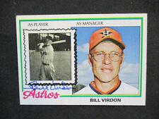 Bill Virdon Houston Astros Autographed Signed 1978 Topps #279 EX+-EXMT 430