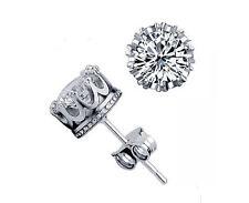 Luxury Silver Plated AAA Swiss Zircon Stud Earrings