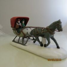 "Department 56 Heritage Village ""One Horse Open Sleigh"" #59820 No Box 1B"