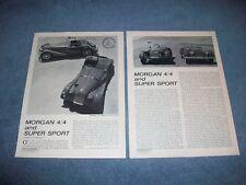 1963 Morgan 4/4 and Super Sport Vintage Road Test Info Article