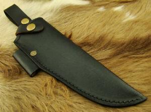 Alistar UK Handmade Multi Carry Black Cowhide Knife Leather Sheath Bushcraft(230