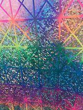 "Geometric Metallic Hologram Design Nylon Spandex 4Way Stretch Sold By The Yd 60"""