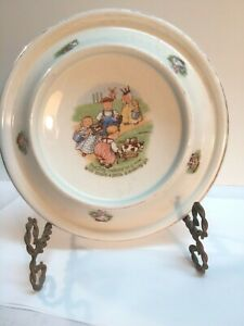 Antique Royal Baby Plate 1903. Tiny Todkins Milking Cows