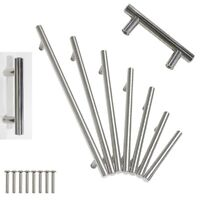 Stainless Steel Kitchen Door Cabinet T Bar Handle Pulls Cupboard Drawer Handle