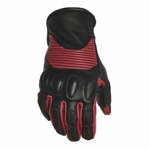Speed and Strength Women's Pixie Leather Motorcycle Gloves Black/Burgandy