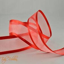 Cut Lengths Satin Edge Organza Ribbon 10mm 15mm 25mm 40mm Crafts Tying