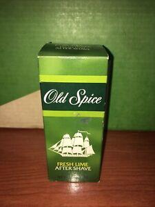 Vintage OLD SPICE FRESH LIME Mens AFTER SHAVE 4 1/4 oz SHULTON Star Top NIB