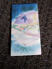 Vintage Christmas Card Bluebirds Star Bethlehem Unused