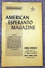 1952 AMERICAN ESPERANTO MAGAZINE Language STUDY History INTERLANGUAGE Amerika