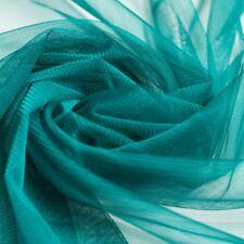 Teal green blue Soft Tulle Dress Fabric 150cm wide - Per M - beautiful drape
