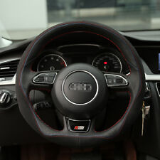 For Audi A4l Anti-Slip PVC Leather DIY Hand-stitched Car Steering Wheel Cover