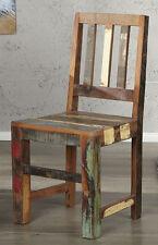 Stuhl Esszimmerstuhl MADRAS bunt Recycling Holz Design Küchenstuhl Lehnstuhl NEU