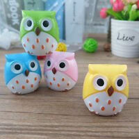 2Pcs Mini Funny Cute Lovely Owl Pattern Pencil Sharpener School Kids Favorite