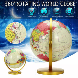 26.5CM Earth Globe Rotating World Map Geography Science Explorer Kids Gift Toy