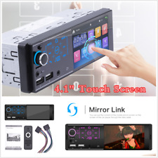 4.1 Inch 1 DIN Full Touch Screen Car Dash Stereo MP5 Player FM Radio BT USB AUX