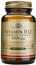 Sublingual Vitamin B12, Solgar, 250 nuggets 1000 mcg