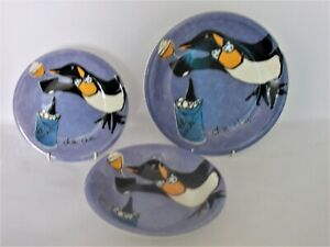 WHITTARD BY BETH PENGUINS CHIN CHIN ICE BUCKET CHOICE of PLATE SIZE OR BOWL