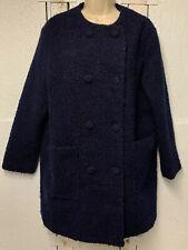 R Edition - Dark Blue Winter Coat - Women - Size 12 Lined Warm - Elegant