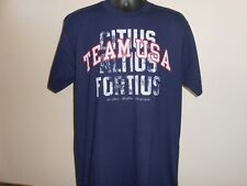 NEW-MENDED London 2012 Olympics Team USA YOUTH 14/16 L Large Navy Blue Shirt