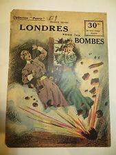 """Récit, collection Patrie: """"Londres sous les bombes"""" de Franck HENRY.1914-1918;"""