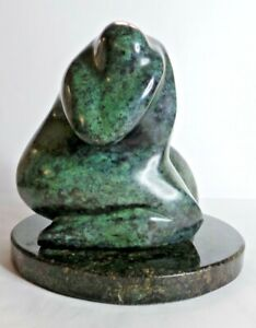 Rare  Abstract Bronze Sculpture Nude  Signed