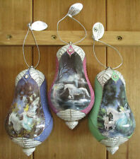 Bradford Editions Mimi Jobes Fairyland Porcelain Heirloom Ornaments w/tags 3 set