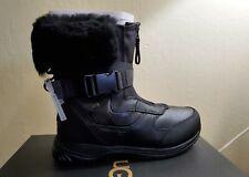 UGG TAHOE BLACK LEATHER SHEEPSKIN WATERPROOF SNOW MEN'S BOOTS SIZE US 9.5 NEW