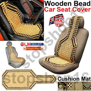 Wooden Bead Car Taxi Van Front Seat Cover Cushion - Classic Beaded Design UK