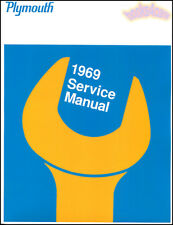 PLYMOUTH 1969 SHOP MANUAL SERVICE REPAIR BOOK FURY GTX BARRACUDA SATELLITE