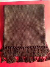 TOM FORD MENS $750  NWTAG DARK BROWN SILK / CASHMERE SCARF 75 INCHES ITALY🇮🇹