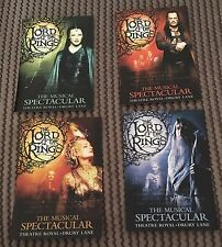 The Lord Of The Rings : Full Set Of 4 Promo Postcards London Production Theatre