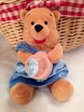 Winnie The Pooh Aquarius BeanBag Disney Store Blue Robe Water Vase Plush Stuffed
