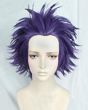 My Hero Academia Shinsou Hitoshi Shinso Short Dark Purple Cosplay Hair Wig E184