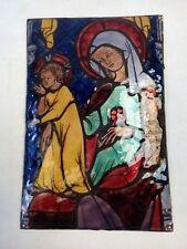 Emaux de Limoges Vierge à l'Enfant signé SM M Sornin  - 21123