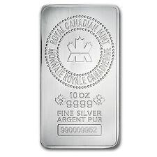 10 oz Royal Canadian Mint Silver Bar - New RCM Silver Bar - SKU #83022