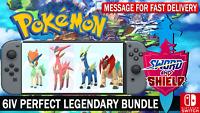 Pokemon Sword & Shield Shiny 6IV Keldeo Cobalion Terrakion Virizion Battle Ready