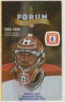 Montreal Canadiens 1995-96 Official Schedule