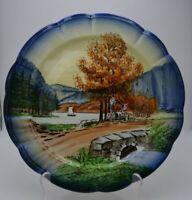 Vintage Halsey Fifth Ave Majolika Germany Handpainted Plate #439