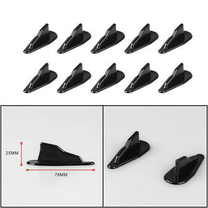 10 x Car EVO-Style Roof Shark Fins Wing Spoilers Generator Universal Decorative