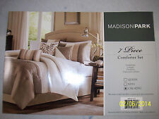 """Madison Park Amherst California KING  """"Amherst"""" 7 Piece Comforter Set  New In Pk"""
