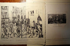 Gravure Etching Kupferstich Incisione Le Roi Henri IV à Paris Porte St Denis