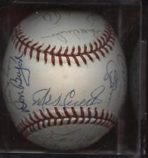 Old Timers Signed Baseball 27 Signatures JSA LOA