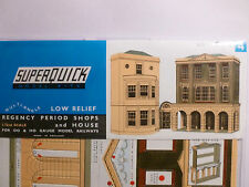 Superquick C Series Card Kit C4 Low Relief Regency Period Shops/Houses OO/HO NEW