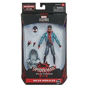 """Marvel Legends 6"""" Spider-Man (Into The Spider-Verse) Miles Morales STILT MAN BAF"""