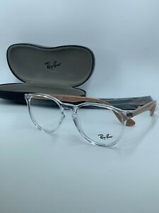 NEW AUTHENTIC Ray Ban  RB7046 5953 CLEAR/BEIGE 51-18-140 FAST SHIP