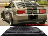 For 05-14 Ford Mustang Coupe GT Black Window Louver Rear Sun Shade Scoop Cover