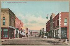 POCATELLO, ID VINTAGE POSTACRD Center Street - Dirt Road + Horsedrawn Wagons
