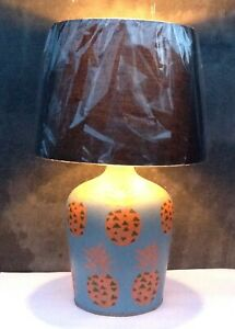Large up cycled table lamp pineapple design